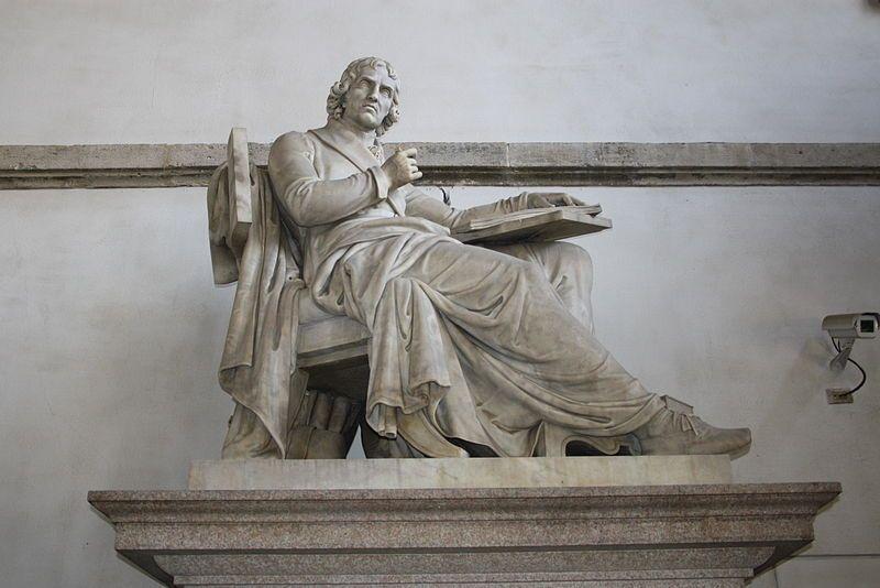 G. Monti, Monumento a Giuseppe Parini, 1838. Milano, Palazzo di Brera. Foto di Giovanni Dall'Orto [Public domain, via Wikimedia Commons]