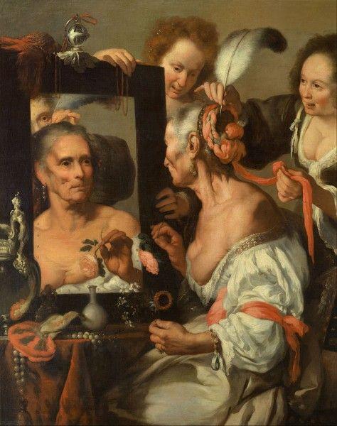 Bernardo Strozzi, Vanitas (La vecchia civetta), 1635 - [Public domain], via Wikimedia Commons