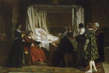 Successione testamentaria - Eduardo Rosales - La Regina Isabella la Cattolica detta il suo testamento - [Public domain], via Wikimedia Commons