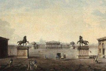 MILANO NAPOLEONICA [Giovanni Antonio Antolini, Foro Buonaparte, vista dalla parte della città] (wikimedia commons)