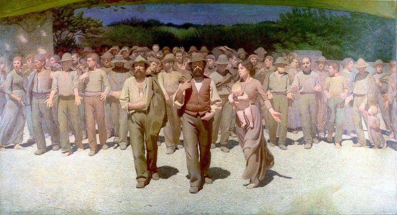 Giuseppe Pellizza da Volpedo, Il Quarto Stato, 1901, Milano Museo del Novecento, [Public domain], attraverso Wikimedia Commons