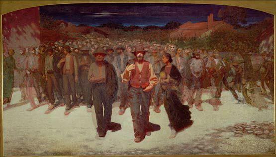Giuseppe Pellizza da Volpedo, La Fiumana, 1895-96, Milano Pinacoteca di Brera, [Public domain], attraverso Wikimedia Commons