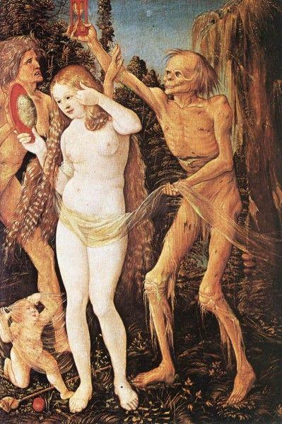 Hans Baldung, detto Grien, Le tre età della donna e la morte (1510) - [Public domain], via Wikimedia Commons