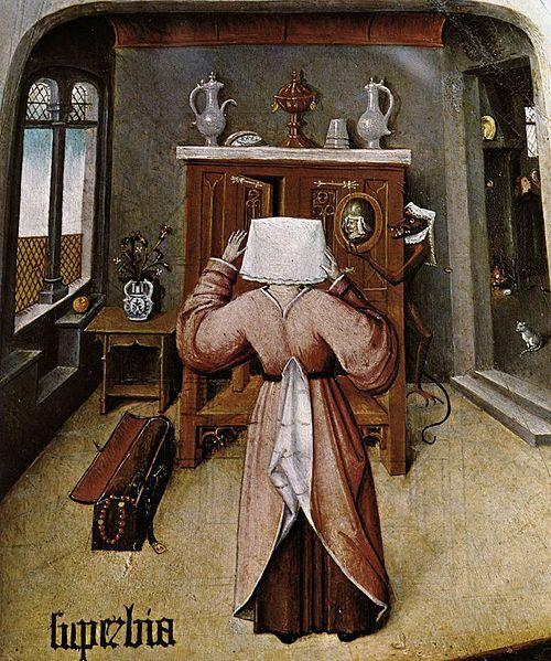 Hieronymus Bosch, I sette peccati capitali, particolare, 1500-1525 - [Public domain], via Wikimedia Commons