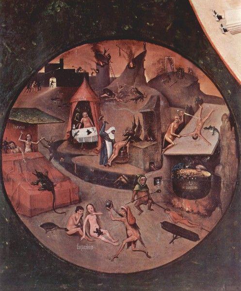 Hieronymus Bosch, I sette peccati capitali, particolare 2, 1500-1525 - [Public domain], via Wikimedia Commons
