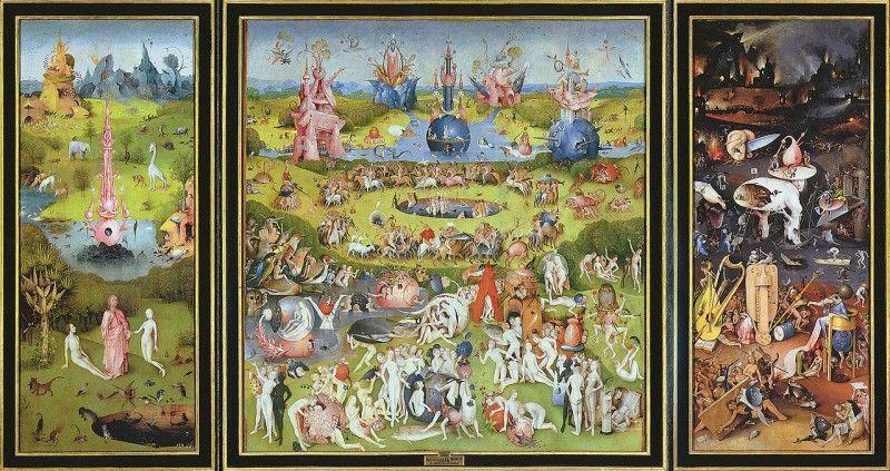 Hieronymus Bosch, Il Giardino delle delizie, 1480-1490 - [Public domain], via Wikimedia Commons