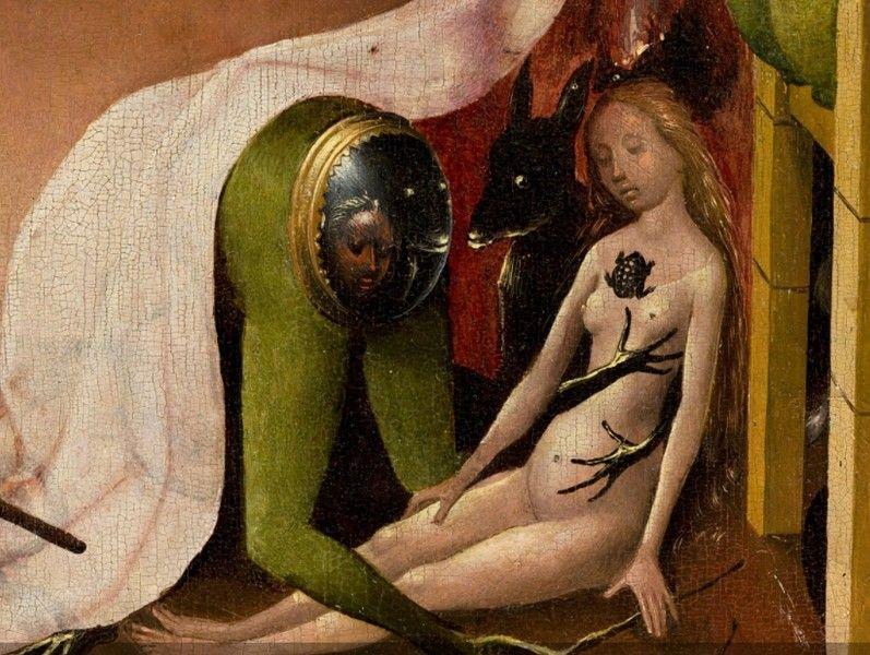 Hieronymus Bosch, Il Giardino delle delizie, particolare, 1480-1490 - [Public domain], via Wikimedia Commons