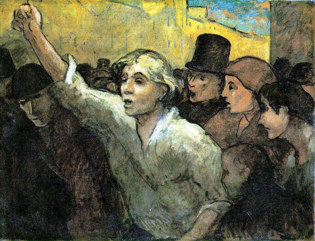 Honoré Daumier, La rivolta, 1860c., The Phillips Collection, Washington - Flickr