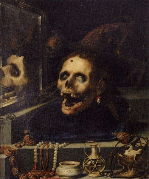 Jacopo Ligozzi, Memento Mori. Natura Morta Macabra, 1604 - pinterest