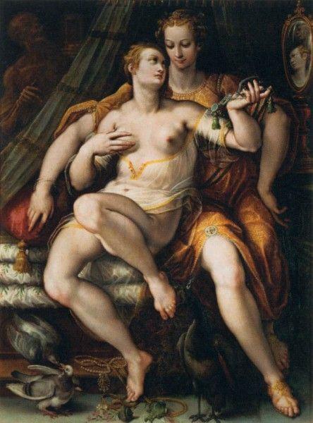 Jan Van der Straet (Stradano), La Vanità, la Modestia, la Morte, 1569 - [Public domain], via Wikimedia Commons