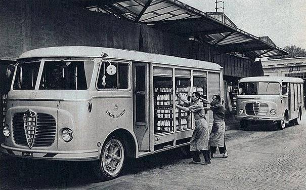 La Centrale del Latte di Milano in via Gian Carlo Castelbarco, anni '50 (credits Milano Sparita e da Ricordare)