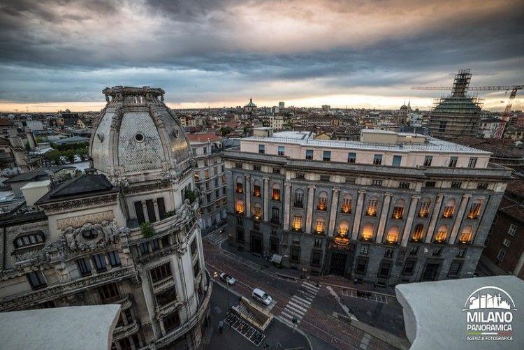 MILANO SKYLINE - Piazza Missori e Palazzo INPS (credits Milano Panoramica)