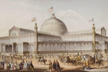 Expo 1853 New York - New York Crystal Palace - By Karl Gildemeister (1820-1869) [Public domain], via Wikimedia Commons