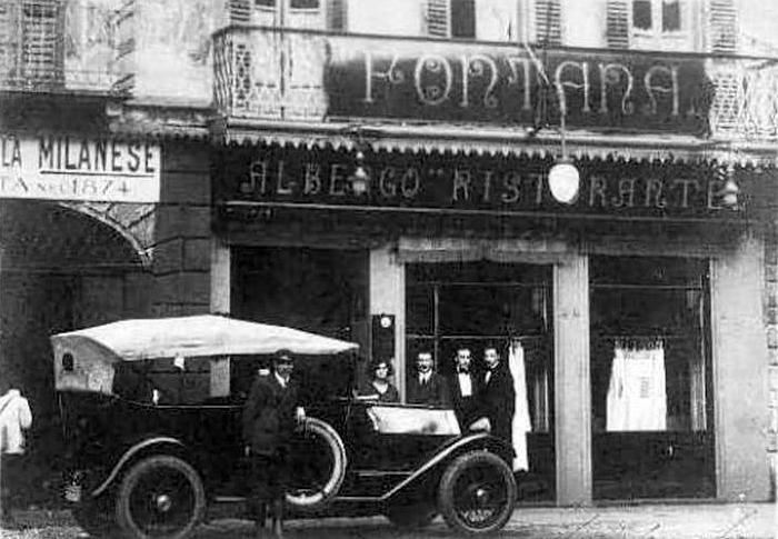 Piazza Fontana, anni '20 (credits Milano Sparita e da Ricordare)