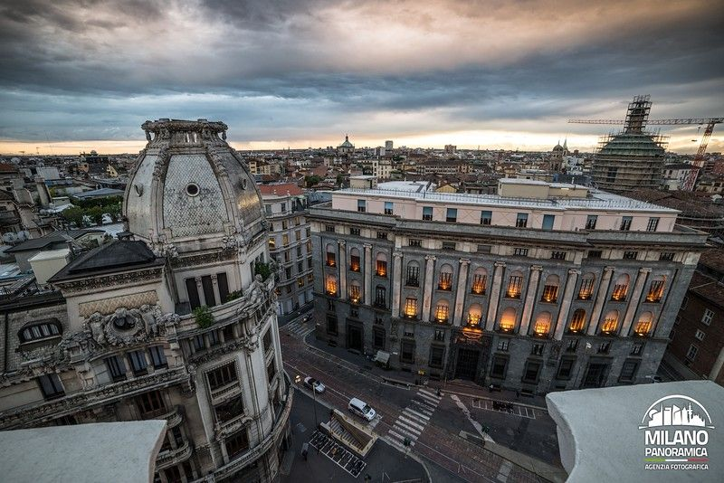 Piazza Missori e Palazzo INPS (credits Milano Panoramica)