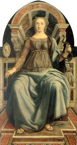 Piero Del Pollaiolo, Prudenza, 1470 - [Public domain], via Wikimedia Commons