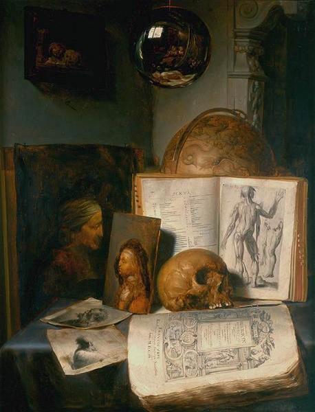 Simon Luttichuys - Vanità con teschio (n°2) - 1645 - [Public domain], via Wikimedia Commons