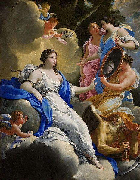Simon Vouet, Allegory of Prudence, 1645 - [Public domain], via Wikimedia Commons