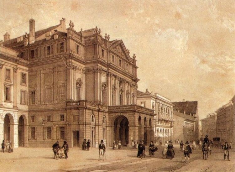 Teatro alla Scala (XIX century print) - Wikimedia Commons