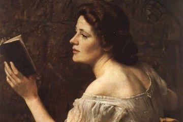 Clelia del Grillo Borromeo (Otto Scholderer, Ragazza che legge, 1883)