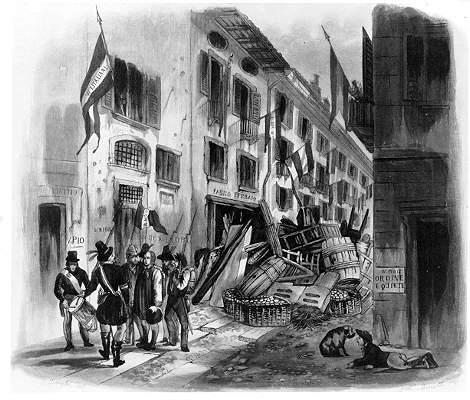 """Durante le Cinque Giornate le """"case"""" del Verziere accolsero i feriti [Public domain, via Wikimedia Commons]"""
