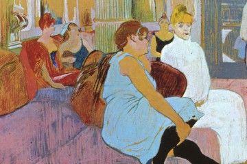 Le case di piacere - Henri de Toulouse-Lautrec - Au Salon de la rue des Moulins - [Public domain], via Wikimedia Commons