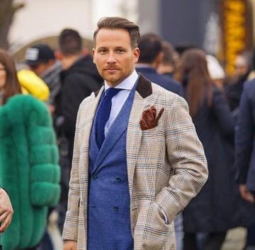 Tessuto italiano su modello inglese Massimo Pirrone_pitti_MilanoPlatinum
