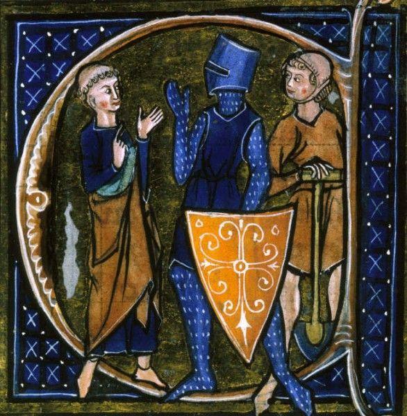 Classica rappresentazione della tripartizione medievale tra clero, guerrieri e lavoratori. Ma Ariberto fu un vescovo guerriero e lottò tutta la vita per affermare e mantenere il suo potere e quello dell'arcivescovado di Milano. (Public domain, via Wikimedia Commons)