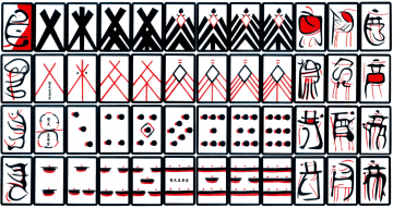 1585: L'Europa incontra il Giappone - Mazzo di carte giapponesi dell'epoca Tenshō (1573-1592) ispirato alle carte portoghesi dello stesso periodo (Public domain, via Wikimedia Commons).