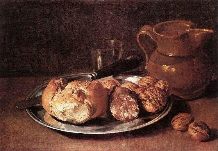 """Il cibo nei """"Promessi sposi"""" - Giacomo Ceruti detto Il Pitocchetto, Natura morta, 1750 ca. (Public domain, via Wikimedia Commons)"""