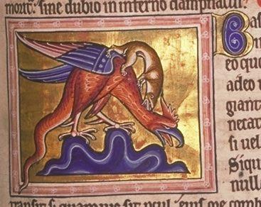 Folio 66 recto - Basilisco (Basiliscus) - Public Domain.
