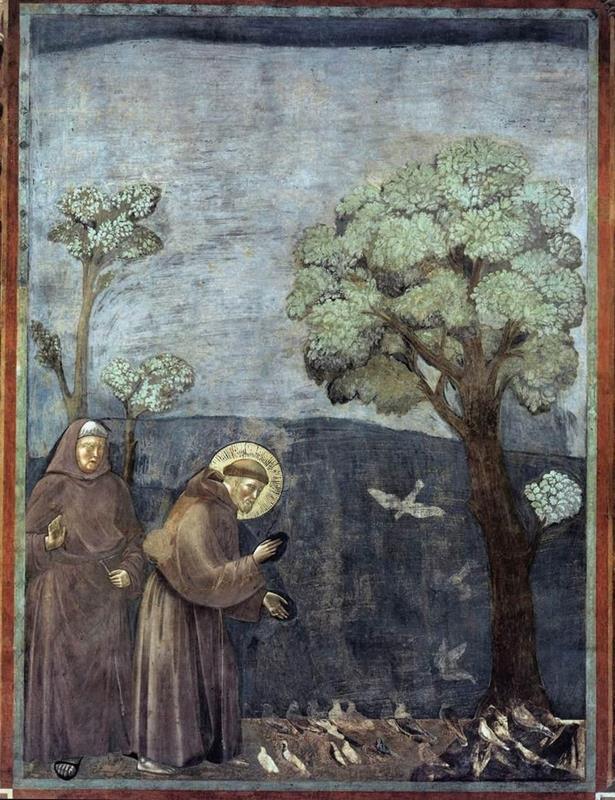 Giotto di Bondone, San Francesco d'Assisi predica agli uccelli - Public Domain via Wikipedia commons