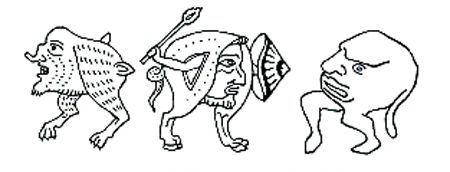 Grilli gotici. Illustrazione da Baltrusaitis J., Medioevo fantastico.