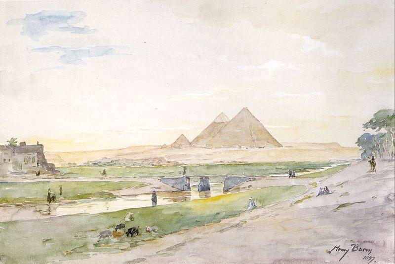 Henry A. Bacon -Egyptian Pyramids - [Public domain], attraverso Wikimedia Commons