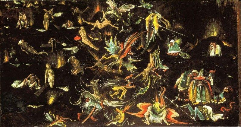 Hieronymus Bosch, Giudizio universale, 1506-08, Alte Pinakothek, Monaco - Public Domain via Wikipedia Commons