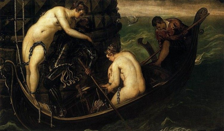 Jacopo Tintoretto, La liberazione di Arsinoe - Tintoretto [Public domain], attraverso Wikimedia Commons