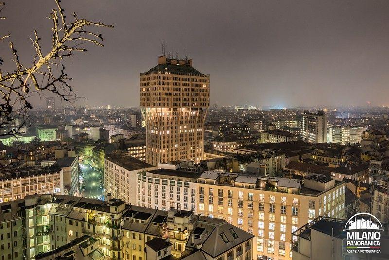 La Torre Velasca di notte (credits Milano Panoramica)