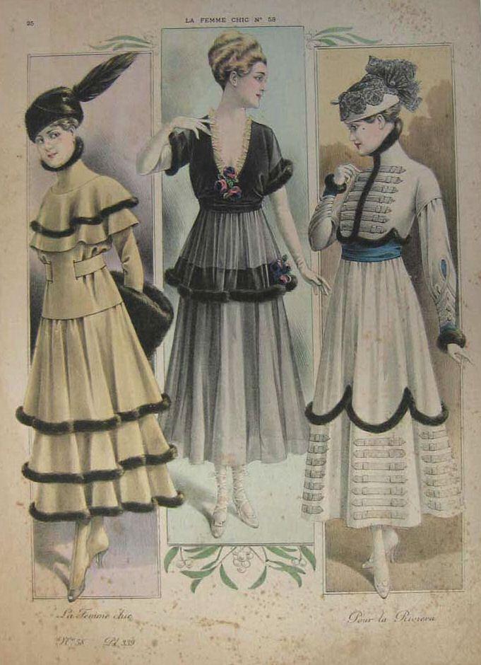 """Illustrazione da """"La femme chic"""", 1910 (public domain, via Wikimedia Commons)."""