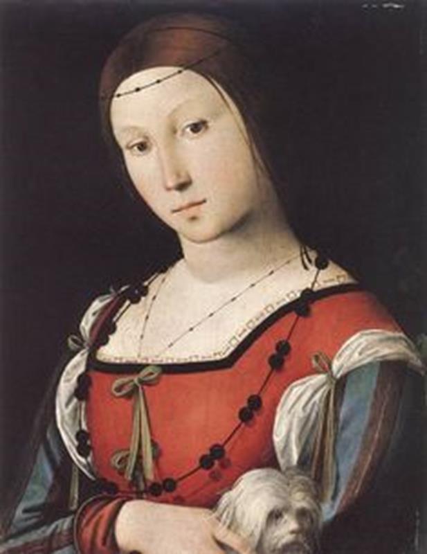 Lorenzo Costa, Ritratto di dama con un cane (Isabella d'Este), 1508 - Pinterest