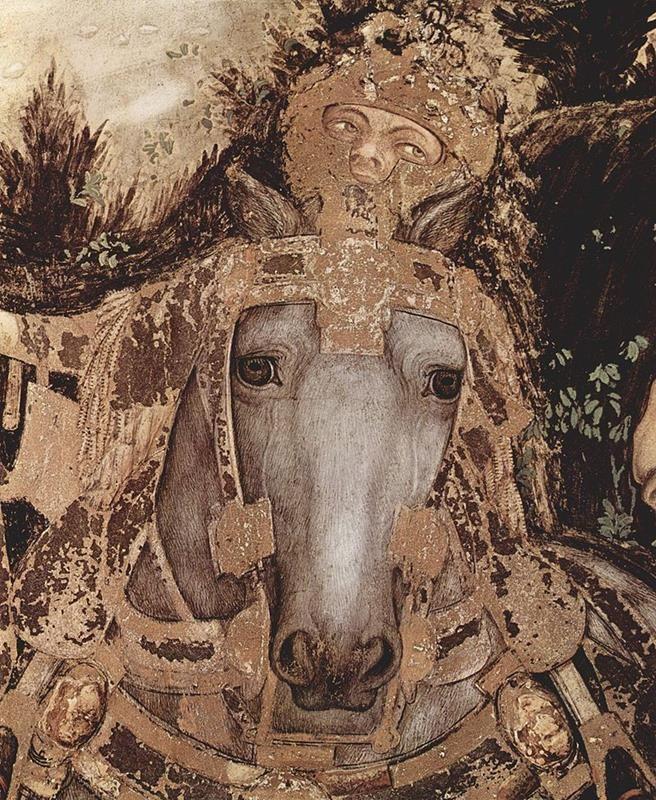 Pisanello, Cavallo e cavaliere (dettaglio) - Public Domain via Wikipedia commons
