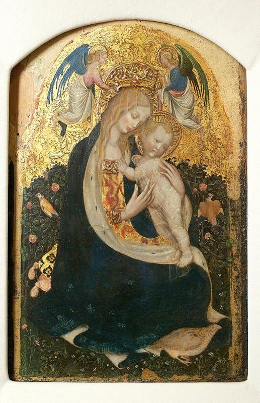 Pisanello, Madonna della quaglia, 1420 ca, Museo di Castelvecchio, Verona - via Wikipedia commons