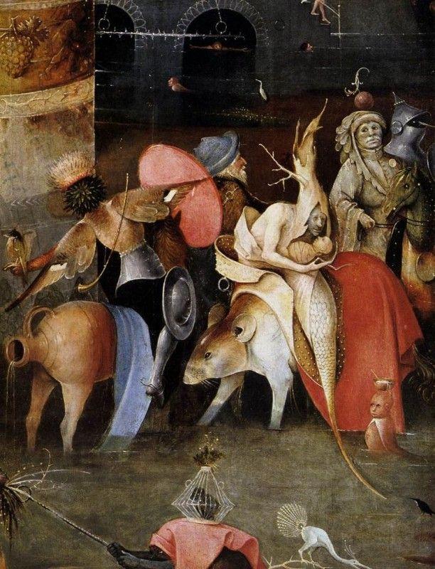 Trittico delle Tentazioni di sant'Antonio - Dettaglio del pannello centrale - Public Domain via Wikipedia Commons