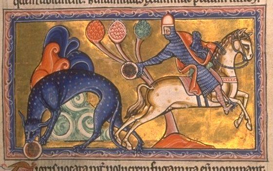 Una pagina del bestiario di Aberdeen, il folio 8 recto - Tigre (Tigris) - Public Domain