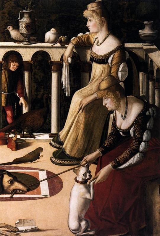 Vittore Carpaccio, Due Dame, 1495 circa, Museo Correr, Venezia - Public Domain via Wikimedia Commons