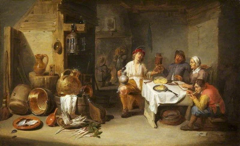 Willem van Herp, Poveri in cucina, 1633 (Public domain, via Wikimedia Commons)