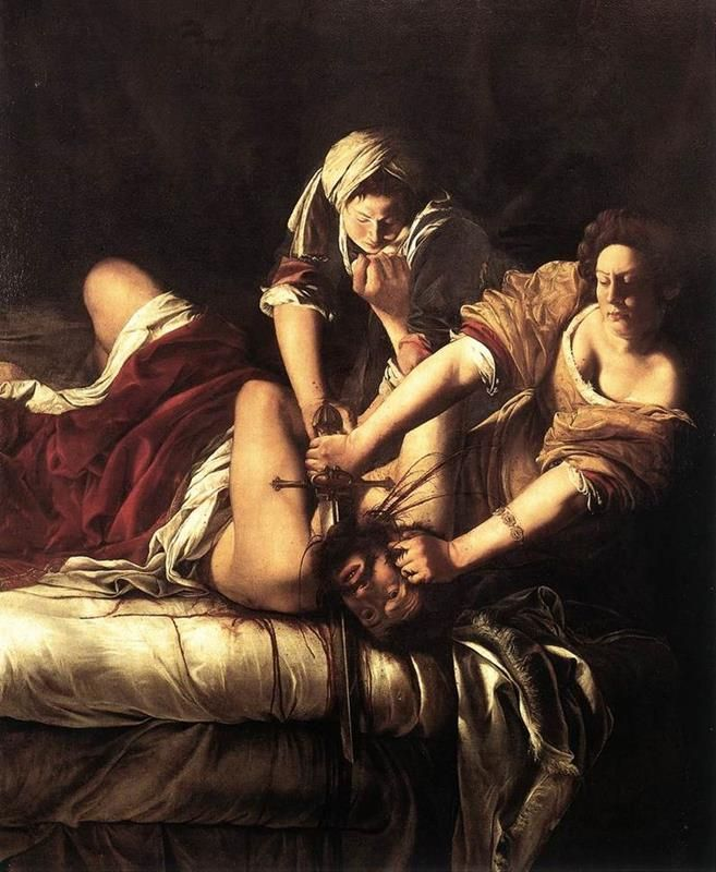 Artemisia Gentileschi, Giuditta che decapita Oloferne, 1620 ca, Galleria degli Uffizi, Firenze - Public Domain via Wikimedia Commons.