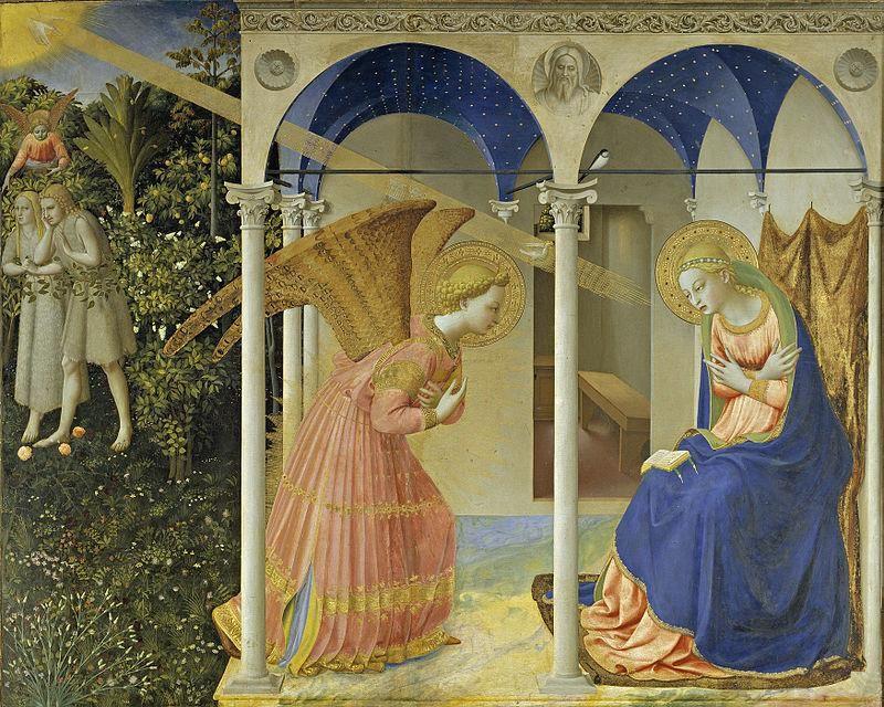 Beato Angelico, L'Annunciazione, (sec. XV) Museo del Prado - Public Domain via Wikipedia Commons
