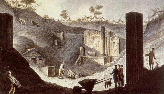 IL LAVORO DELL'ARCHEOLOGO - By Pietro Fabris (Italian Painter, active c. 1740-1792) (book William Hamilton, Campi Phlegraei, Abb. XXXI.) [Public domain], via Wikimedia Commons