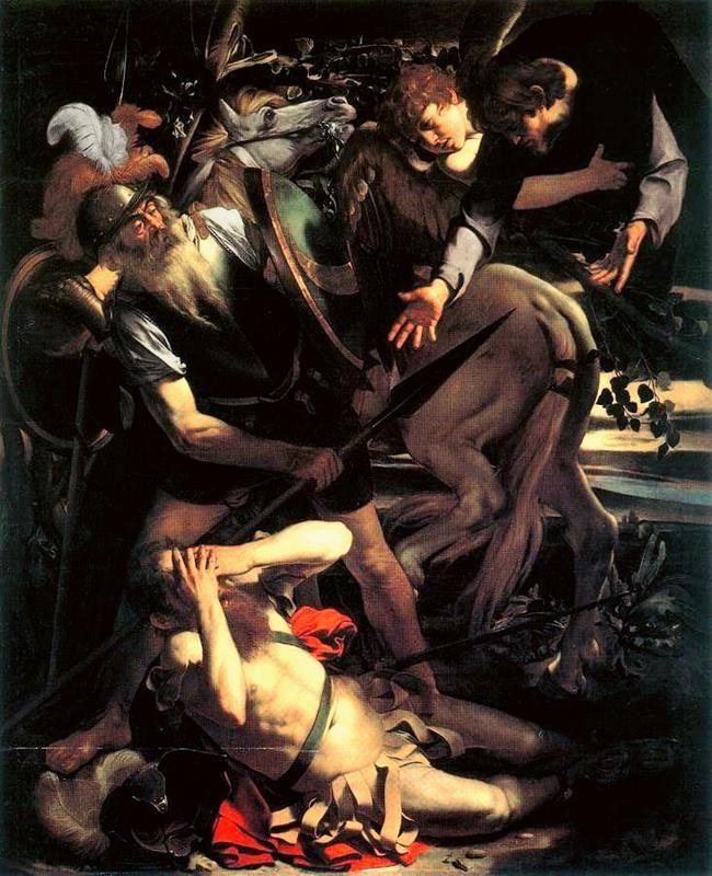 Caravaggio, Conversione di San Paolo, 1600-01, collezione privata Odescalchi, Roma - Public Domain via Wikipedia Commons