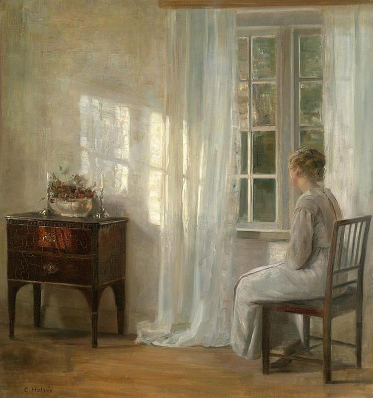 Carl Holsoe, Waiting By The Window - Public Domain via Wikipedia Commons